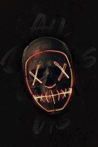 Skull Neon Mask