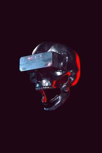 Skull Scifi Future Minimal 5k