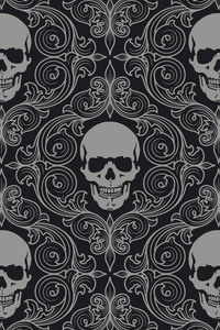 Skull Tiles Background