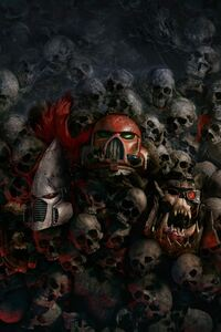 320x480 Skulls 4k