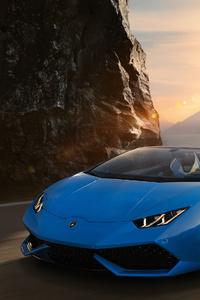 Sky Blue Lamborghini Huracan 4k