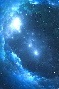Sky Blue Nebula 4k