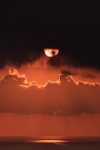 Sky Cloud Sunset Dark 4k