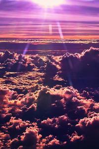 Sky Clouds Sun 4k