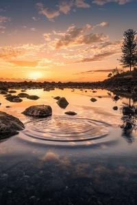 Sky Scenic Landscape Water Reflection Rocks