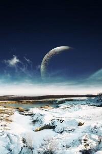 1080x1920 Sky Snow Landscape