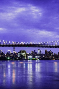 Skyline Triboro Nyc Bridge