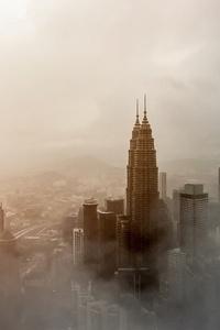 Skyscraper City Building Fog Tower