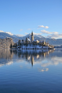 Slovenia Lakes Alps Snow