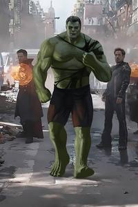 1440x2560 Smart Hulk With Team