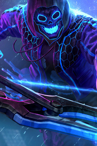 320x480 Smite Neon Hero
