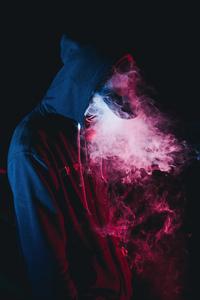 Smoke Hoodie Boy 4k