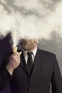 Smoking Beard Man