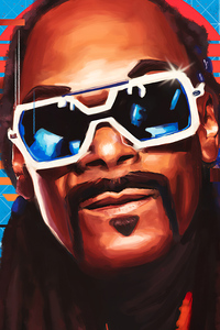 360x640 Snoop Dogg Digital Portrait Art 4k