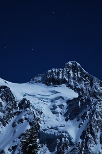 1080x1920 Snow Capped Mountains During Night Time 5k