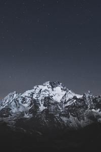 480x800 Snow Caps Mountains Landscape 5k
