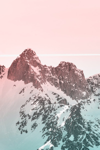 480x800 Snow Covered Mountain