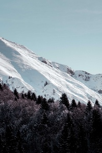 1080x2160 Snow Covered Mountains Landscape 5k
