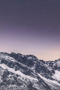 1440x2960 Snow Covered Mountains Stars 5k