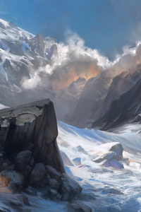 Snow Landscape Mountains
