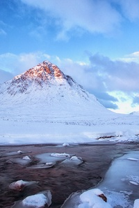 Snow Mountains Winter Scenery 4k