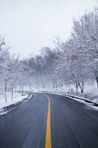 240x320 Snow Road Winter Ice Scenery 5k