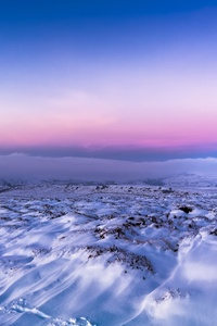 Snow Twilight Clear Sky