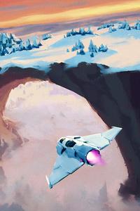 320x480 Snowy Hole 4k