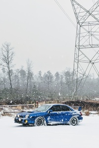 Snowy Subarus Car