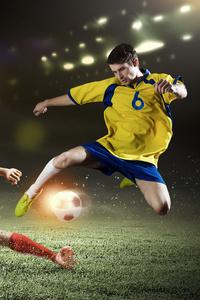 320x480 Soccer Players Football 4k