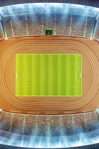 Soccer Stadium Top View 8k