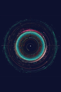 640x960 Solar System Map 5k