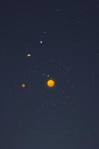 480x854 Solar System Minimal 4k
