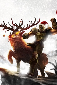1080x2160 Soldier Santa