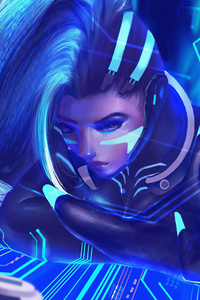 1280x2120 Sombra In Cyber Space
