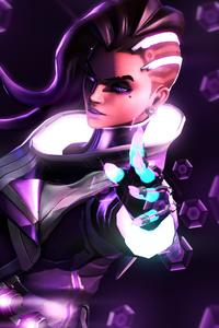 Sombra Overwatch Artwork 4k
