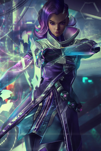 320x480 Sombra Overwatch Fan Artwork