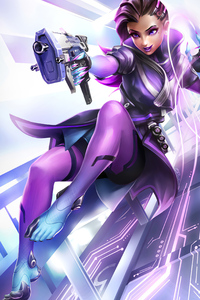 480x800 Sombra Overwatch Video Game 4k