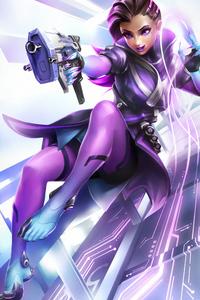Sombra Overwatch Warrior Art