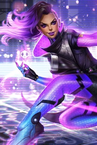 800x1280 Sombra Overwatch Warrior