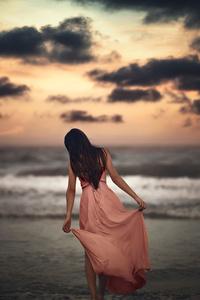 1242x2688 Somewhere Alone At Beach
