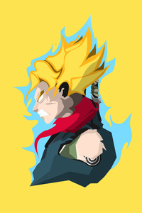 1242x2688 Son Goku Dragon Ball Super 4k Minimalism