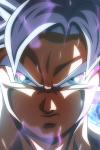 1242x2688 Son Goku Dragon Ball Super 8k Anime