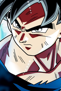 1242x2688 Son Goku Dragon Ball Super Anime Retina Display 5k