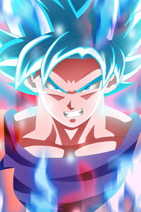 720x1280 Son Goku Super Saiyajin Blue 5k