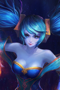 720x1280 Sona League Of Legends 5k