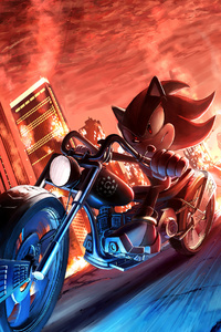 320x568 Sonic Shadow The Hedgehog 4k
