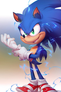 480x800 Sonic The Hedgehog 2020 4k Artwork