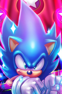 1080x2160 Sonic The Hedgehog Art 4k