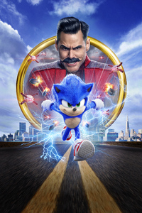 240x320 Sonic The Hedgehog Movie 8k